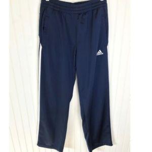 ADIDAS Men's Athletic Track Pants Blue M